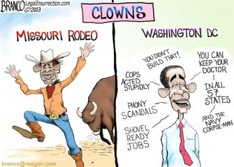 Clowning Around ( Obama Rodeo Clown )