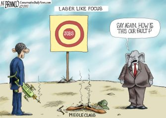 "Friday Past Blast Cartoon ""Laser Focus"""