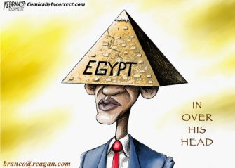 Friday Past Blast Cartoon (Obama and Egypt)
