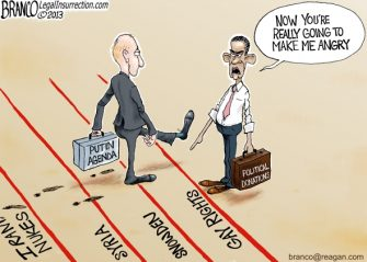 Priorities USA, Putin and Obama