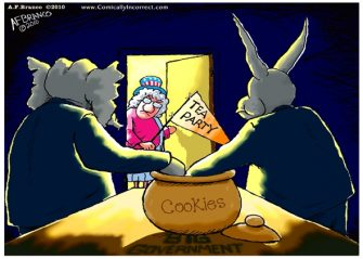 "Sunday Past Blast Cartoon ""The Cookie Jar"""
