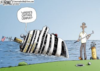 "Friday Past Blast Cartoon ""Where's Obama"""