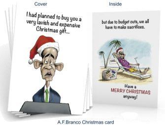 Obama Christmas Card by A.F.Branco