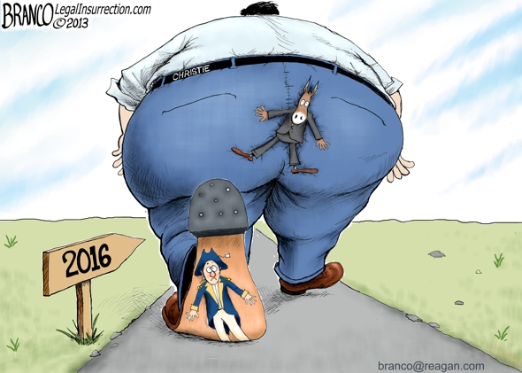 Chris Christie Political Cartoon