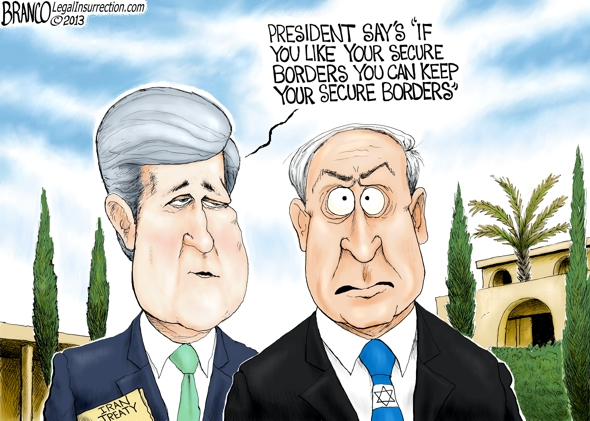 Benjamin Netanyahu John Kerry Political Cartoon