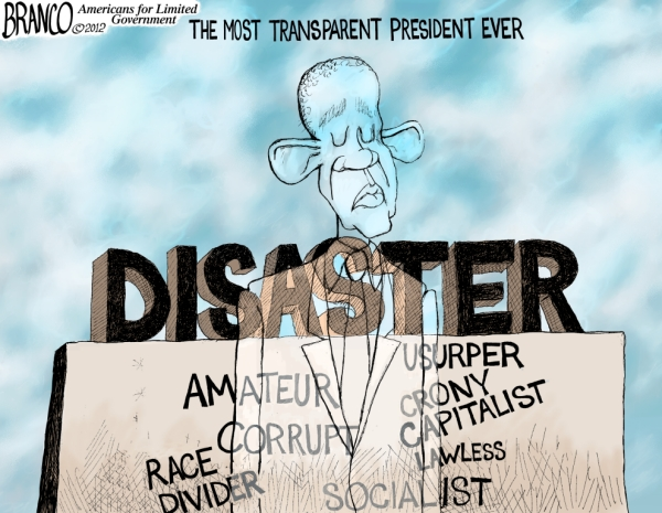 Most Transparent President Ever – Political Cartoon