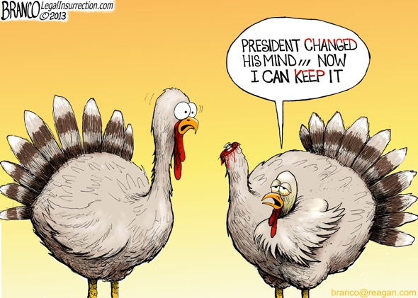 Presidential Turkey Pardon Editorial Cartoon