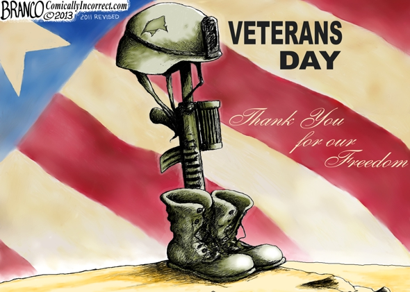 Veterans Day Political cartoon