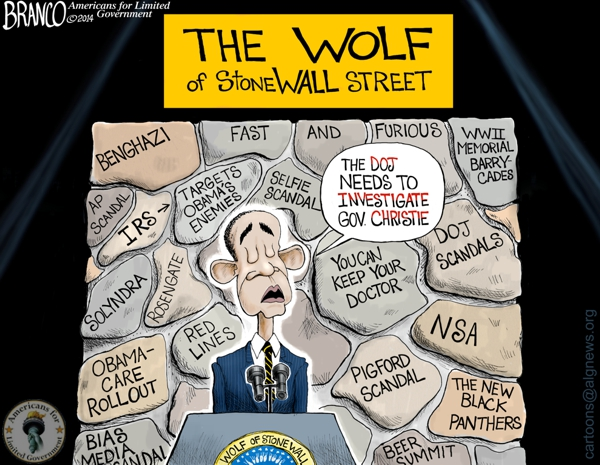 Wolf Of Stone-Wall Street Cartoon