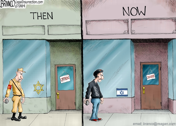 Anti-Israeli Protester Cartoon