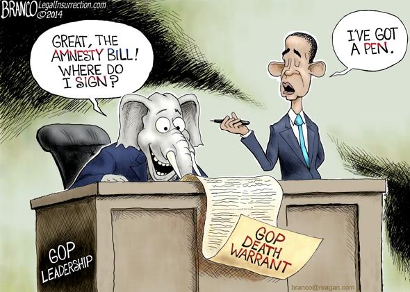 GOP Amnesty Bill Cartoon
