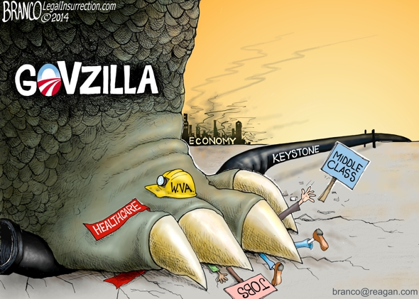 Big Government is like Godzilla