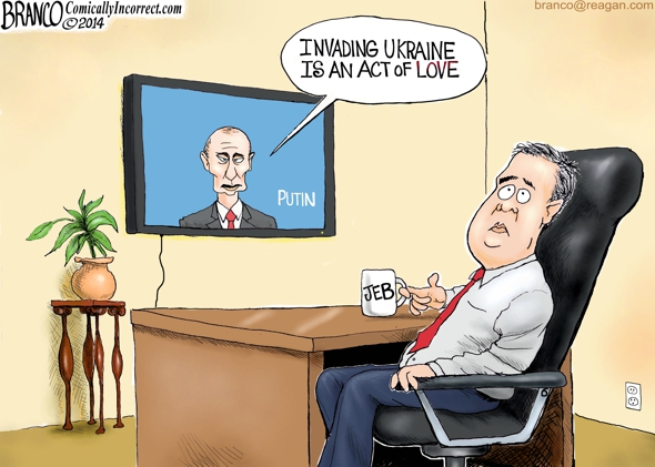 Jeb Bush Act of Love Cartoon