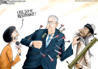 Friday Past Blast – Israeli Restraint