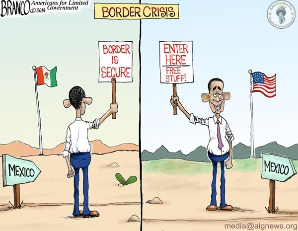 Border Security Cartoon