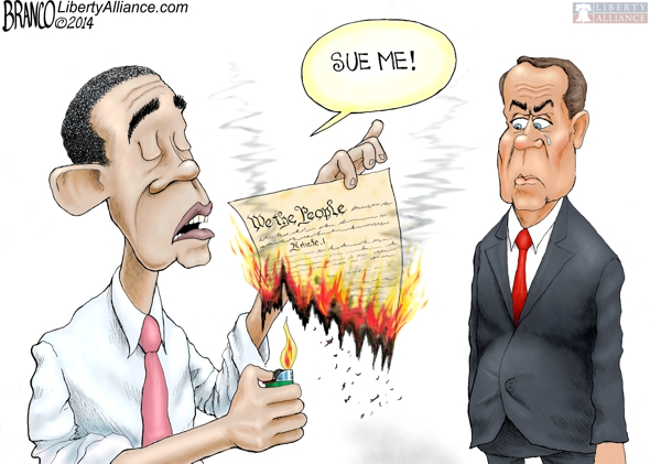 Obama Burning the Constitution