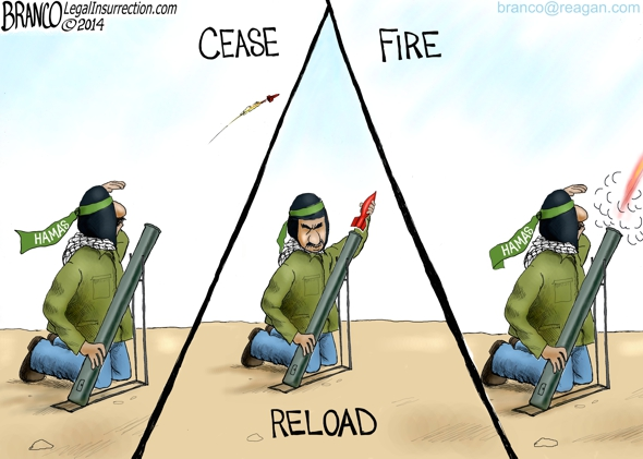 Hamas Ceasefire Terms Cartoon