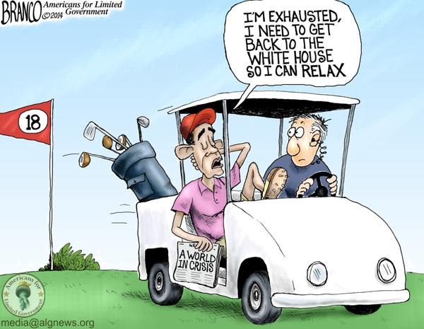 Obama Golfing Again