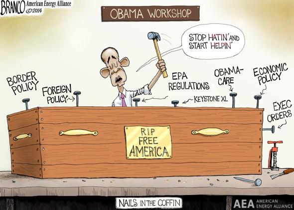 Stop Hating Obama Cartoon