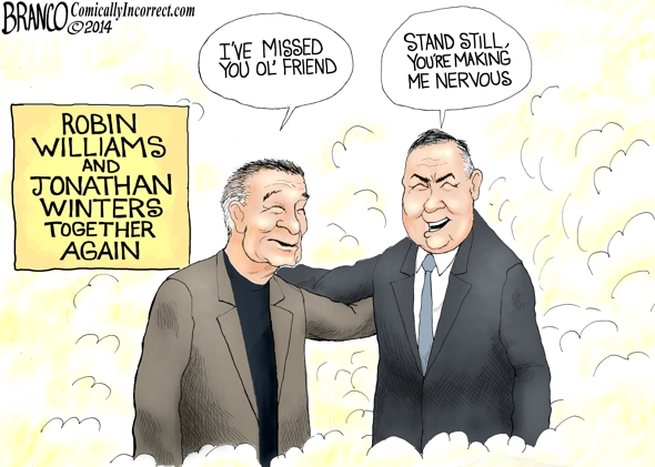 Robin Williams Passing, Cartoon