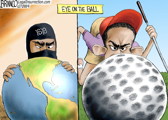 Obama Disengaged  Political Cartoon