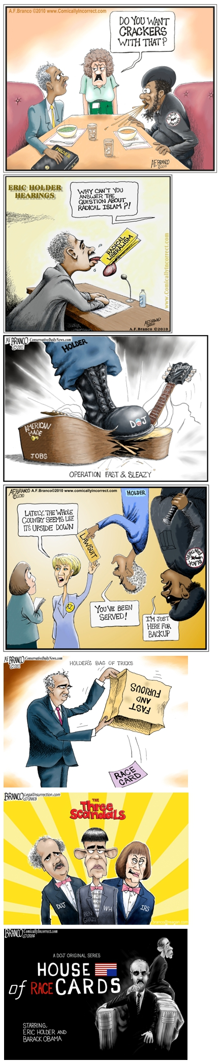 Holder cartoons in Review