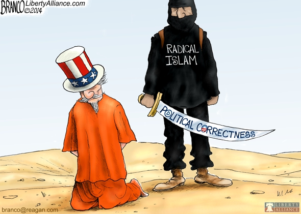 Terrorism in America – Political Cartoon