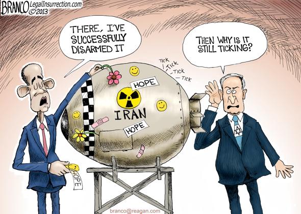 Iran Israel Nuclear Cartoon