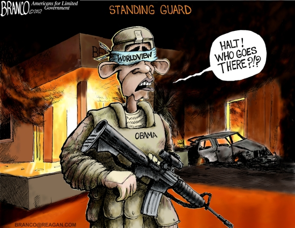 Obama Standing Guard