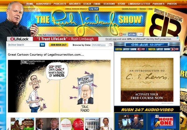 Rush Limbaugh Website