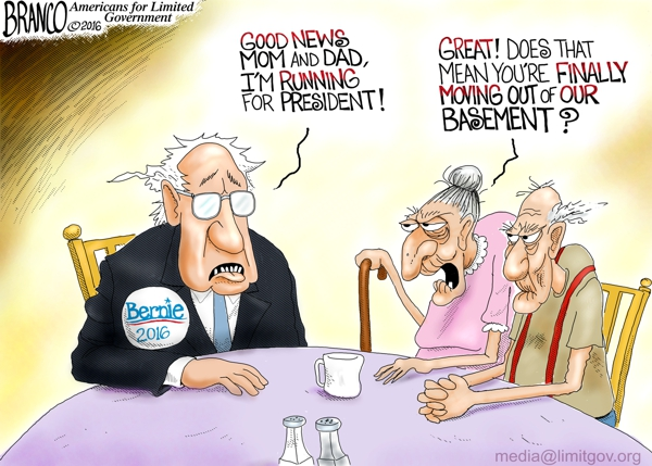Bernie Sanders a Bum