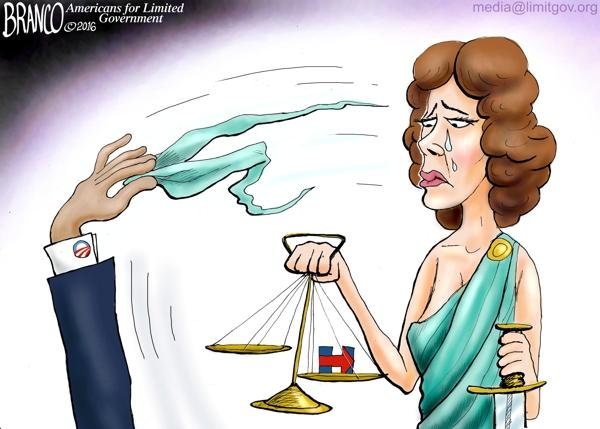 No Blind Justice