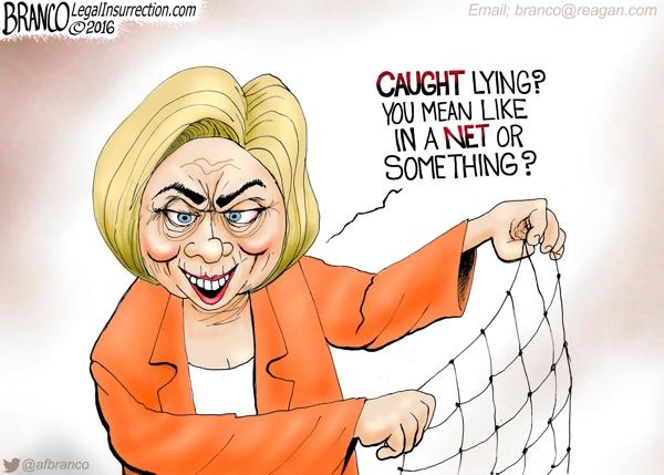 Hillary Caught Lying