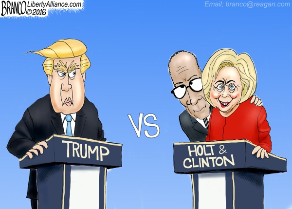 Trump Holt Clinton
