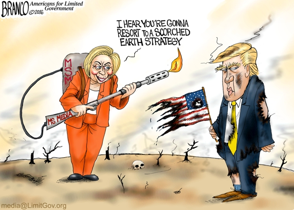 Hillary Scorched Earth