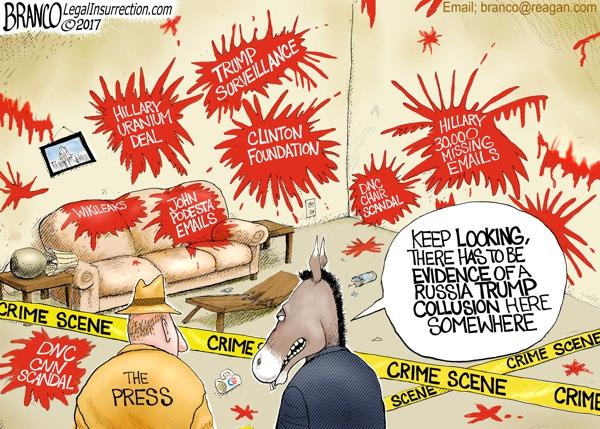 Russia Hack Crime Scene