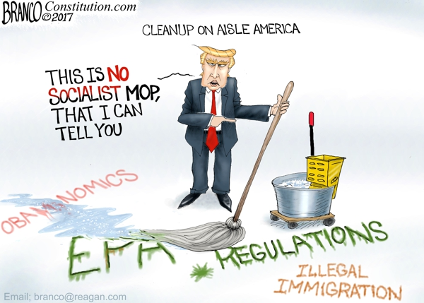 Trump Cleaning Up America