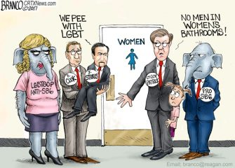 LGBT-GOP Texas  Bathroom Issue