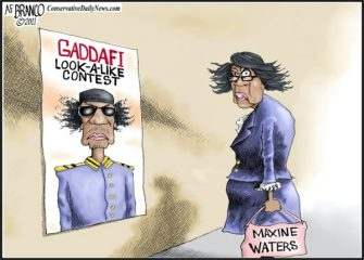 Past Blast Cartoon – Maxine Waters