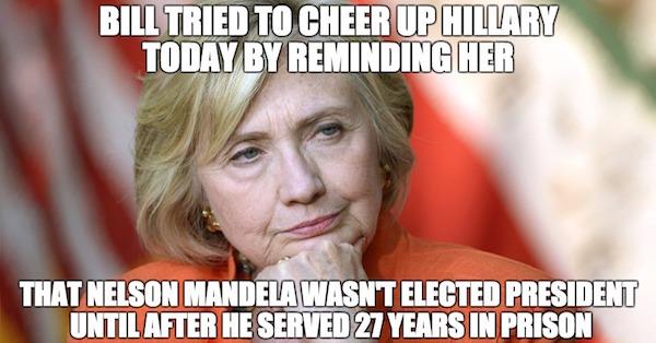 Bill Cheered Hillary
