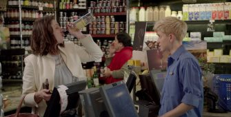 When a Clueless Young Checker Asks for ID — Oops! (Video)