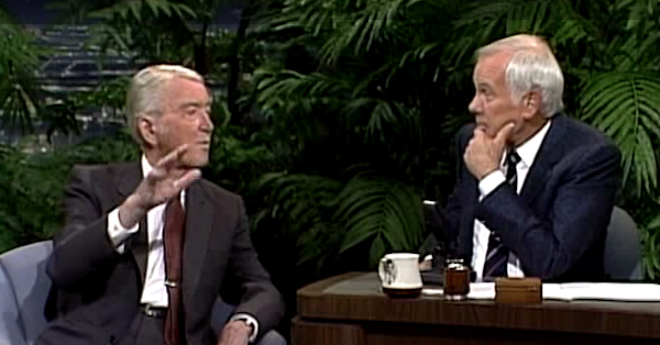 Jimmy Stewart and Johnny Carson