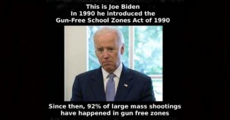 Slow Joe Biden Was an Early Gun Free Zone Guy…