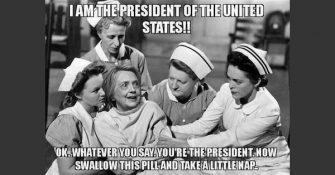 Hillary Should Be Wearing an Orange Jumpsuit or White Straightjacket!