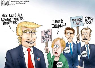 A.F. Branco Cartoon – Free Trade For Me, None For Thee