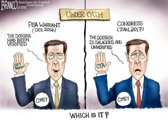 A.F. Branco Cartoon – Liar, Leaker and Liberal