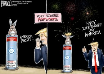 A.F. Branco Cartoon – Fired Up