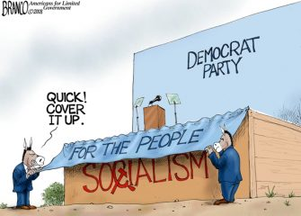 A.F. Branco Cartoon – Under Wraps