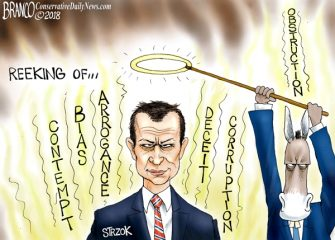 A.F. Branco Cartoon – Strzok Out