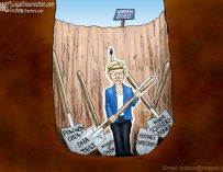 A.F. Branco Cartoon – Shovels Ready